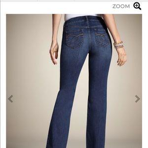 Chico's So Slimming Platinum denim bootcut jeans
